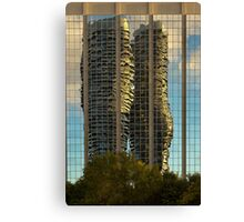 Marilyn Monroe Towers Reflected Canvas Print