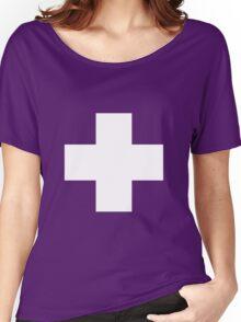 Swiss Flag T-shirt Women's Relaxed Fit T-Shirt