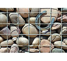 Rock wall with horseshoe Photographic Print