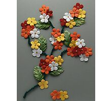 Papercraft colorful flowers Photographic Print