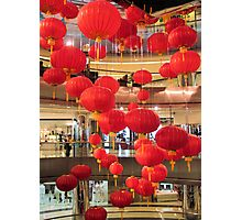 Hanging chinese lanterns Photographic Print