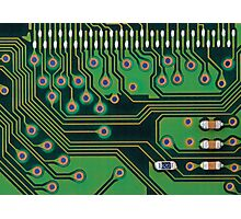 Circuit board details Photographic Print