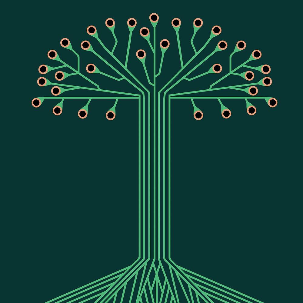 Circuit board tree by Jeff Knapp