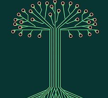 Circuit board tree by Jeff Knapp