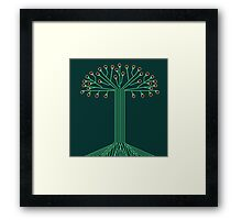 Circuit board tree Framed Print