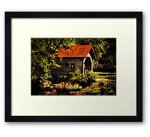 Charming Country Bridge Framed Print