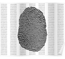 Fingerprint over binary numbers Poster
