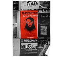 Paris poster for presentation of Rasputin Poster