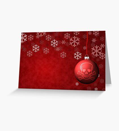 Skull & Crossbones holiday ornament Greeting Card