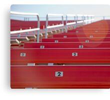 Red stadium seating Canvas Print