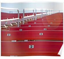 Red stadium seating Poster
