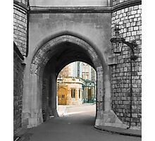 Castle arch leading to royal home Photographic Print