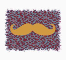 Funny Mustache on leopard skin Kids Clothes