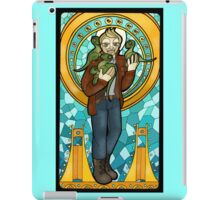 St. Christopher of the Velociraptors iPad Case/Skin