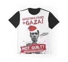 GAZA XMAS TEE- #FREEWORLBOSS Graphic T-Shirt