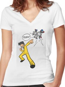 Yeah Bitch!! Magneton!! Women's Fitted V-Neck T-Shirt