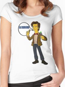 Doctor Who Geronimo The Simpsons Women's Fitted Scoop T-Shirt