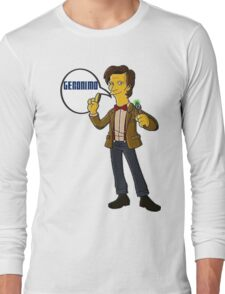 Doctor Who Geronimo The Simpsons Long Sleeve T-Shirt