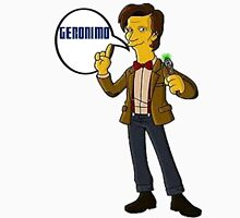 Doctor Who Geronimo The Simpsons Unisex T-Shirt