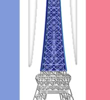 Paris French Flag and Eiffel Tower Sticker