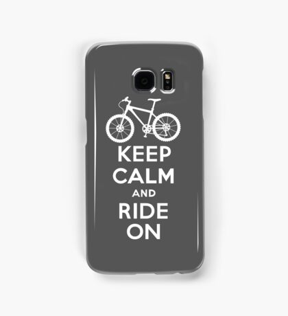 Keep Calm and Ride On  grey  3G  4G  4s iPhone case  Samsung Galaxy Case/Skin