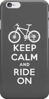 Keep Calm and Ride On  grey  3G  4G  4s iPhone case  by Andi Bird