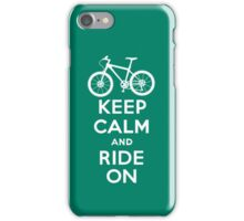 Keep Calm and Ride On  green  3G  4G  4s iPhone case  iPhone Case/Skin
