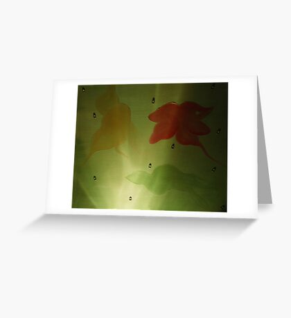 A Tiny Fraction Of An Underwater Seascape (Somewhat Magnified To Display The Plant/Animal Concurrency) Greeting Card