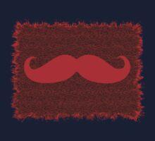 Red Mustache on leopard skin One Piece - Long Sleeve