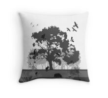 Support Native Animal Rescue Throw Pillow