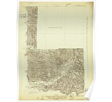 USGS Topo Map Washington State WA Mt Rainier 242668 1924 96000 Poster