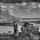 Lindifarne Castle (Holy Island) in Mono by Colin Metcalf