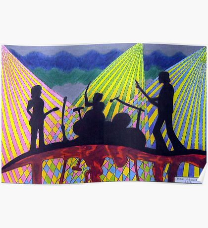 369 - ROCK BAND - DAVE EDWARDS - COLOURED PENCILS - 2012 Poster
