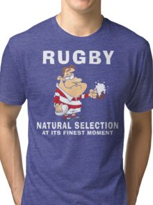 Funny Rugby Tri-blend T-Shirt