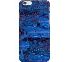 Blue Paper Collage iPhone Case/Skin