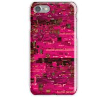 Pink Paper Collage iPhone Case/Skin