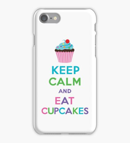 Keep Calm and Eat Cupcakes 2   3G  4G  4s iPhone case  iPhone Case/Skin