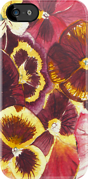 Pansies by MSRowe Art and Design