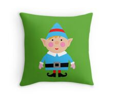 Mr blue Elf Throw Pillow