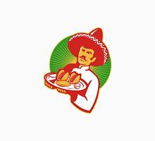 mexican chef serving taco burrito empanada retro Unisex T-Shirt