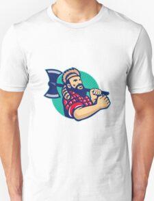 Lumberjack Logger With Axe Retro T-Shirt