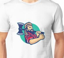 Lumberjack Logger With Axe Retro Unisex T-Shirt