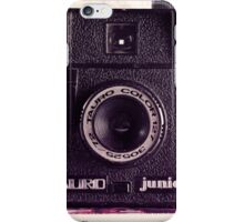 Retro - Vintage Black Camera on Beige Background and books  iPhone Case/Skin
