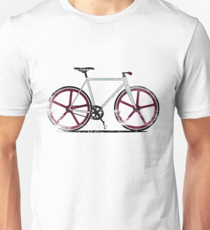 Fixed Gear White Bicycle Unisex T-Shirt