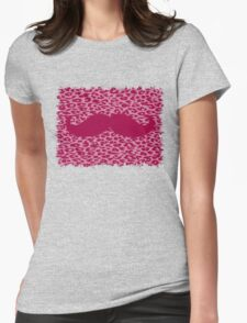 Funny Ref Mustache Womens Fitted T-Shirt