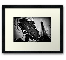 Travel BW - Paris Eiffel Tower I Framed Print