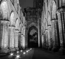Kirkstall Abbey Nave | Leeds@Night by scottsmithphoto