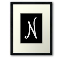The Letter N Framed Print