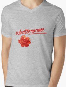 Whatsername Mens V-Neck T-Shirt