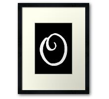 The Letter O Framed Print